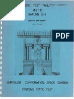 Static Test Facility MSFC Saturn S-1