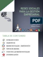 REDES SOCIALES PARA LA GESTIÓN EMPRESARIAL
