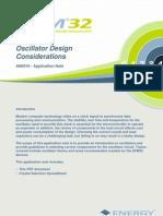 An0016 Efm32 Oscillator Design Considerations