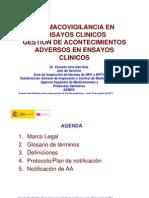 Farmacovigilancia en ensayos clinicos