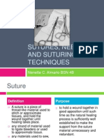 Sutures, Suture Characteristics and Suturing Techniques