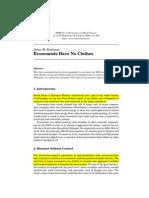 James Buchanan — Economists Have No Clothes