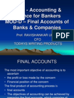 Module D - Final Accounts of Banks & Companies - Presentation