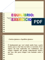 Exercícios de equilíbrio Químico