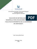 SELECCIÓN DE METODOLOGÍAS DE desarrollo