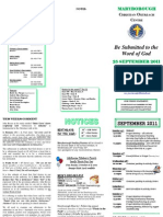 Newsletter 25 Sept 2011