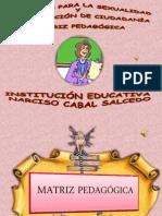 PRESENTACIÓN SEXUALIDAD HACIA LA CONSTRUCCIÓN DE LA MATRIZ PEDAGÓGICA
