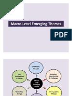 Macro Level Emerging Themes