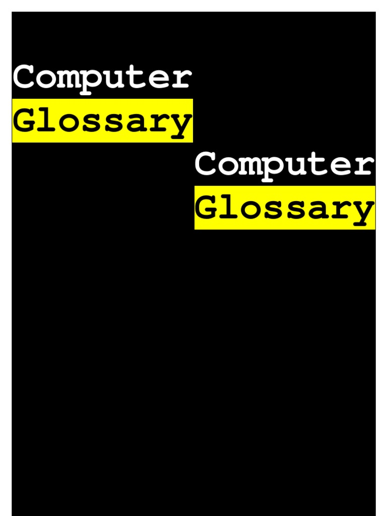Computer Glossary Digital Subscriber Line Compact Disc Tape Automated Bonding Tab For Driver Circuits Lcds Oleds And Pdps