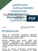 Hypertension Complicating Diabetic Pregnancies