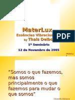 CD 1º Seminário MaterLux