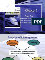 Chap 2 Basic Cost Management Concepts and Accounting for Mass Customization Operations