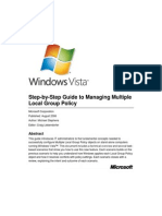 Win Vista Managing Multiple Local Group Policy