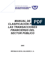 Manual de Clasificacion Para Las Transacciones Financier As Del Sector Publico