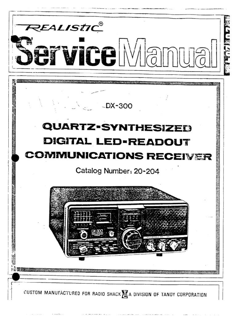 Radio Shack Realistic DX 300 Shortwave Radio Service