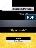 Business Research Methods - Hypothesis by Rajat Jhingan