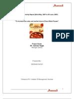 Amul Malai Paneer-Final Report