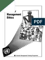 Disaster Management Training Program Ethics UNDP