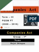 Companies Act by Rajat Jhingan