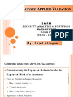 Company Analysis - Applied Valuation by Rajat Jhingan