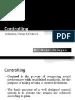 Controlling by Rajat Jhingan