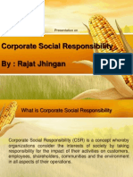 Corporate Social Responsibiliy - CSR by Rajat Jhingan