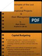 Determinants of the Cost of International Projects & Their Management by Rajat Jhingan