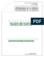 Arquitectura de Sistemas de Bases de Datos