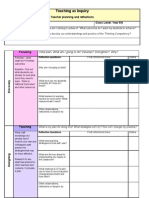 Planner Teaching as Inquiry