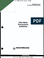 AWS A5.01 Filler Metal Procurement Guidelines