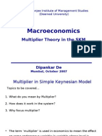MacroEconomics_Lecture 4 SKM Multiplier