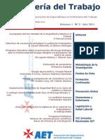 Enfermería del Trabajo, volumen 1, número 3, 2011