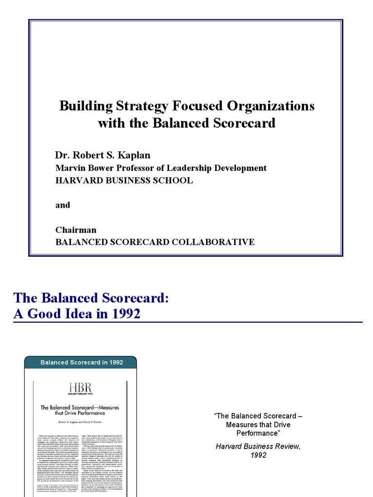 Balanced Scorecard   Strategic Management   Revenue