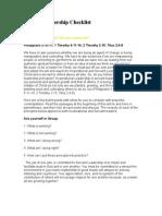 Servant Leadership Checklist 2