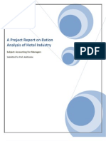 A Project Report on Ration Analysis of Hotel Industry