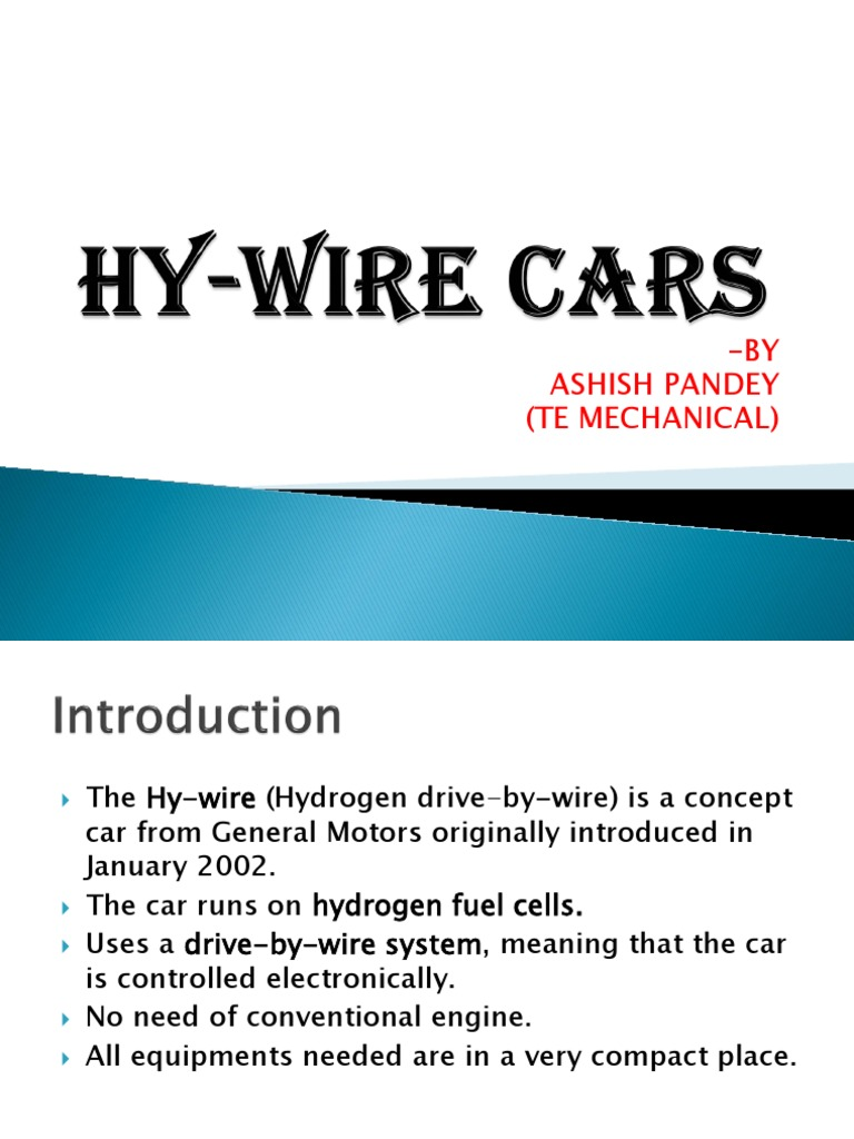 Hy-Wire Cars Ppt | Car | Vehicles