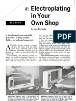 Electroplating in Your Own Shop