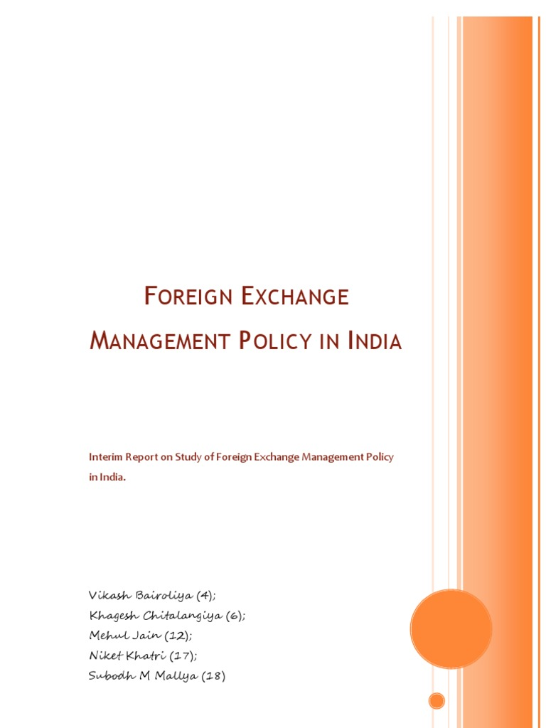 Forex reserves of india pdf
