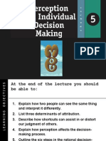 Perception and Decision Making