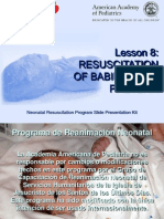 RCP neonatal Lesson 8 Spanish April 2007