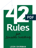 42 Rules of Sensible Investing