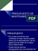 Presupuesto de Mantenimiento Juan Carlos