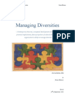 Contemporary theories, conceptual development and advancement, practical implications, future projection of cultural dimensions and organization's ability to manage diversity