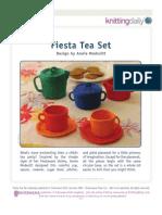 jogo de chá em tricô