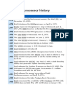 Computer Processor History