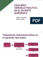 EQUILIBRIO HIDROELECTROLÍTICO EN EL PACIENTE QUIRÚRGICO