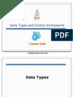 2.DataTypes Control Statements Operators