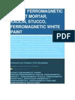 Patent Ferromagnetic White Paint Salazar