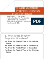 Basic Questions on Prophetic Literature