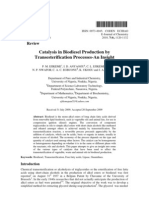 Catalysis in Biodiesel Production By